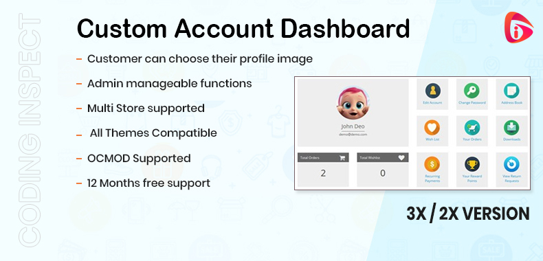 Custom Account Dashboard