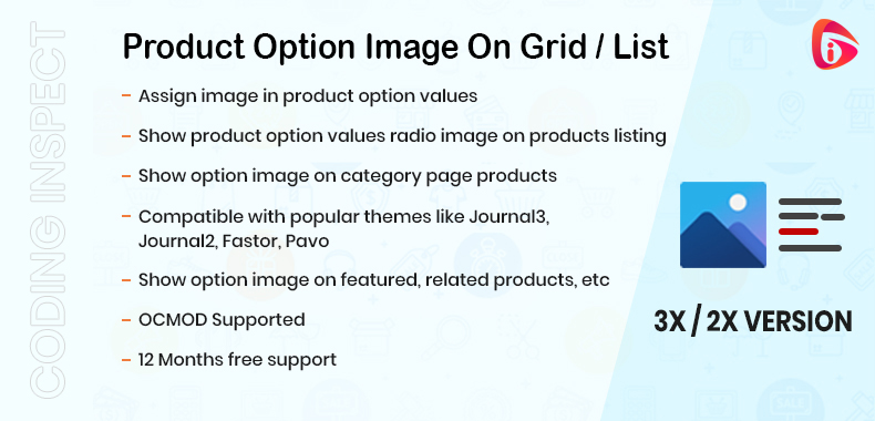 Product Option Image on Grid / List