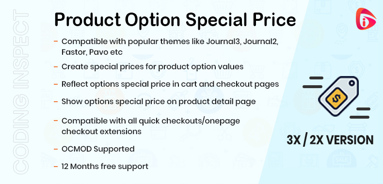 Product Option Special Price