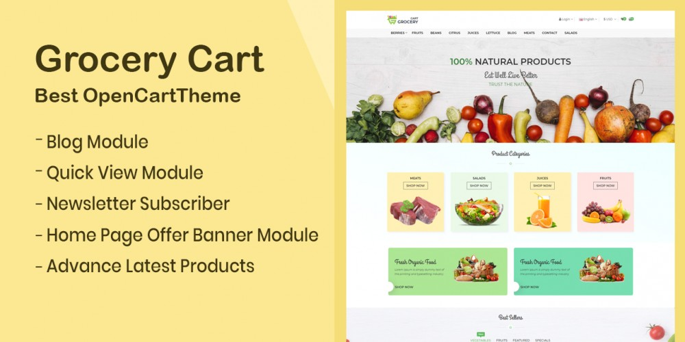 Grocery Store Opencart Theme